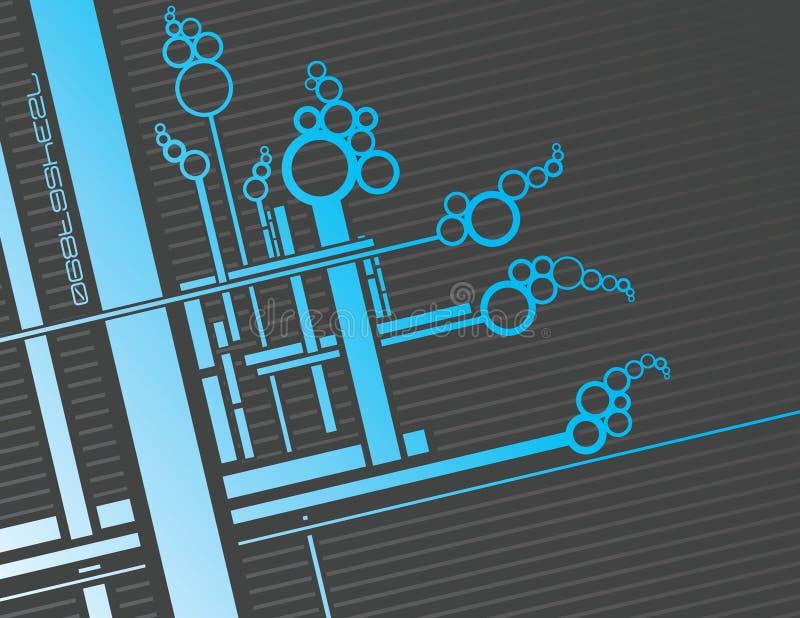 Blauwe ciruits vector illustratie