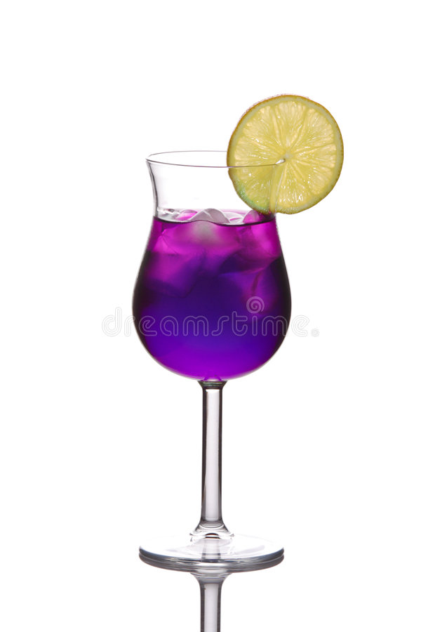 Blauwe cocktail stock afbeelding