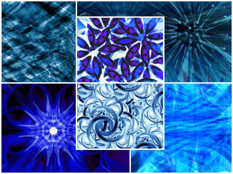Blauwe collage vector illustratie