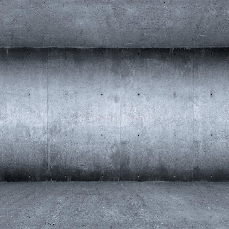 Blauwe concrete ruimte stock afbeeldingen