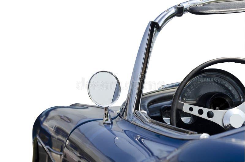 Blauwe convertibele geïsoleerde sportwagen royalty-vrije stock foto's