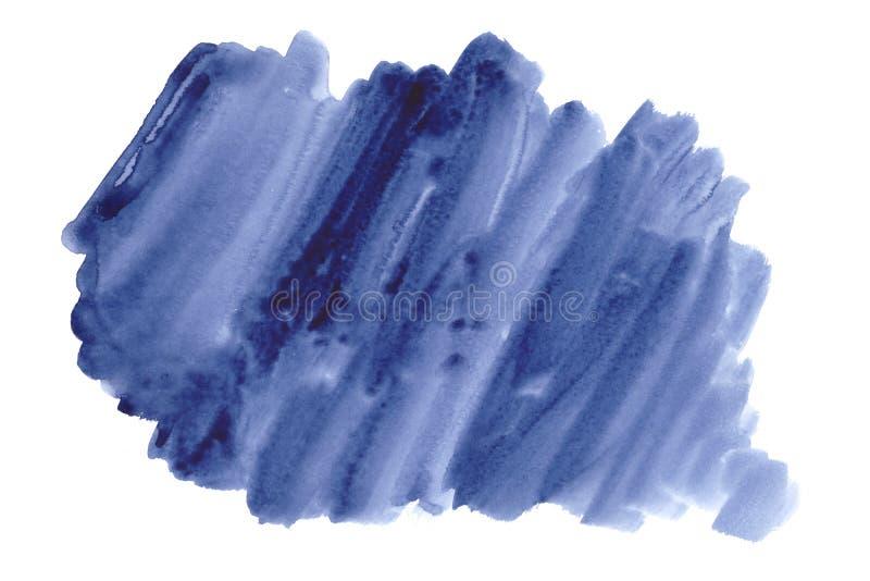 Blauwe creatieve waterverfachtergrond, hand - gemaakte decoratie - pape stock afbeeldingen