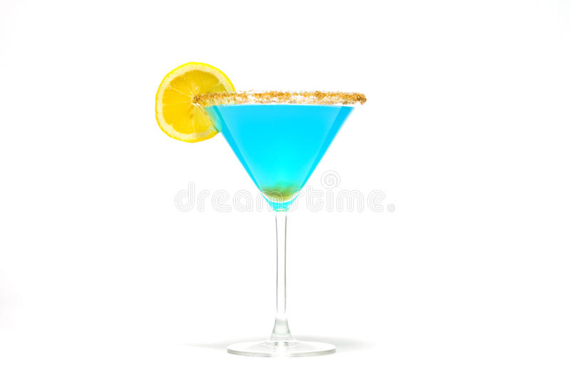 Blauwe Curacao Cocktail royalty-vrije stock foto's