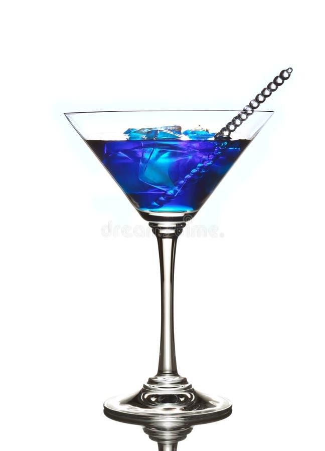 Blauwe Curacao cocktaildrank royalty-vrije stock foto's