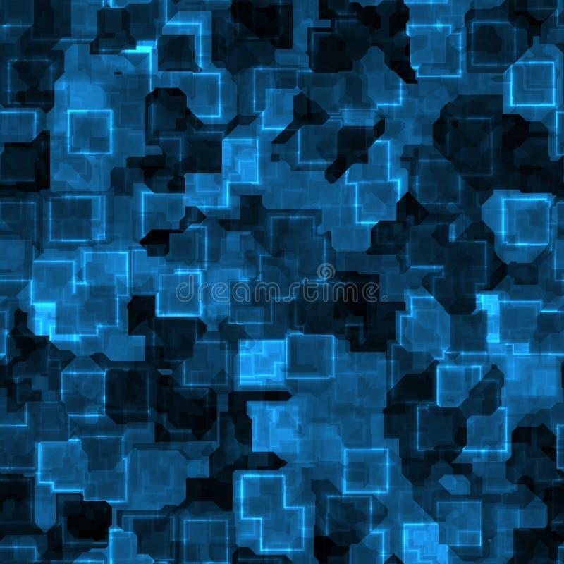 Blauwe cyber grunge vector illustratie