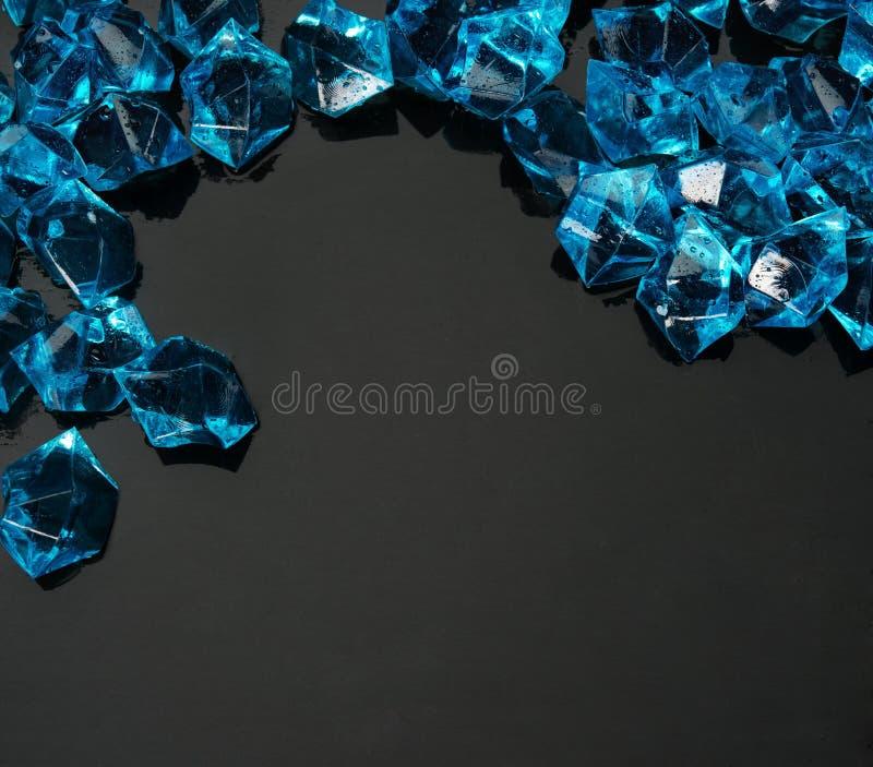 Blauwe cystals stock afbeelding