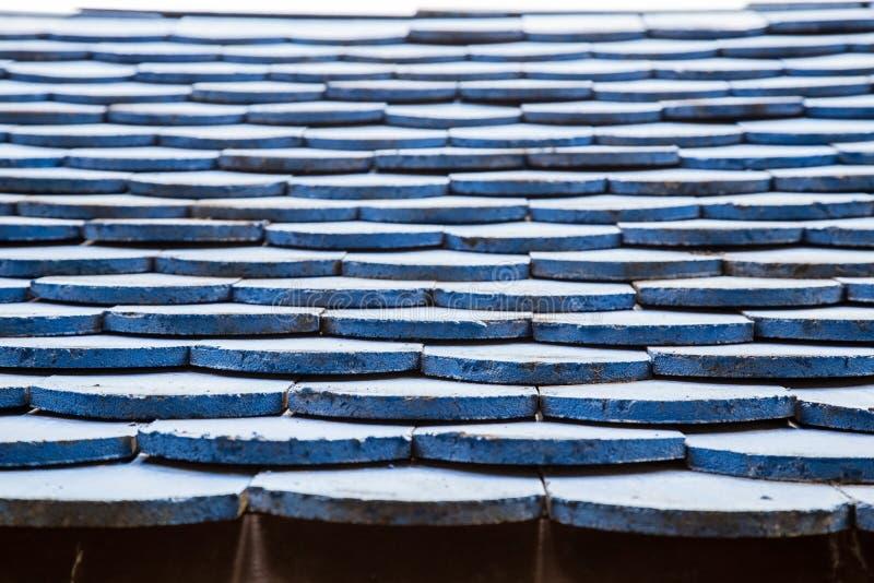 Blauwe daktextuur stock afbeeldingen