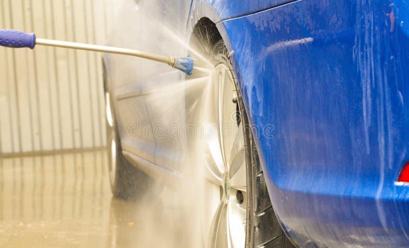 blauwe de auto buble whiles van skodaoctavia rs royalty-vrije stock fotografie