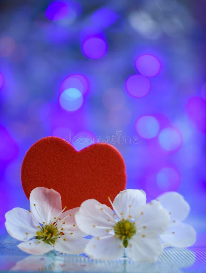 blauwe de dagtederheid van de hartenvalentijnskaart stock afbeelding