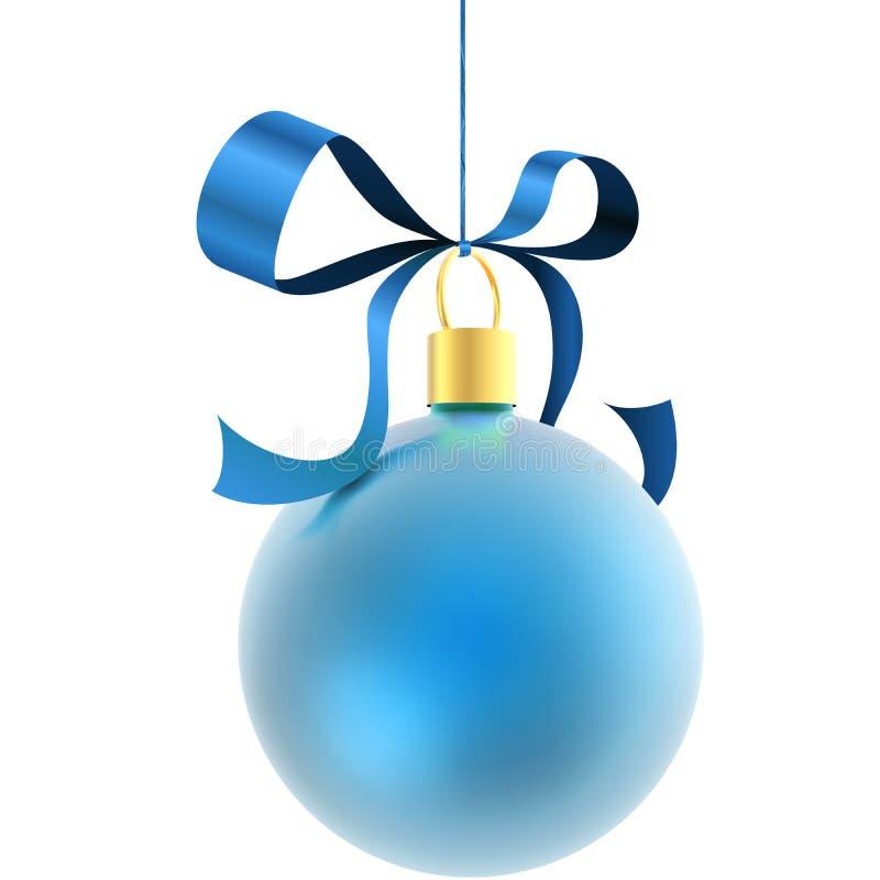 Blauwe de decoratiebal van Kerstmis vector illustratie
