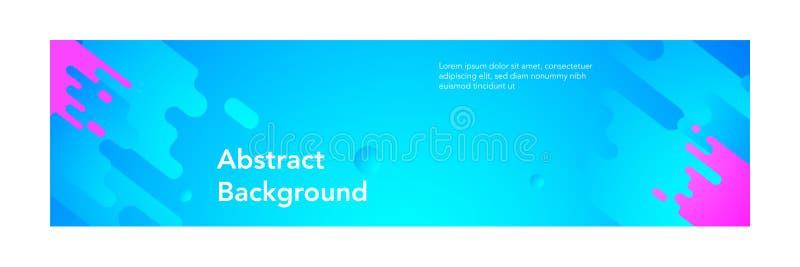 Blauwe de kleurenachtergrond van banner abstracte moderne design_light royalty-vrije illustratie