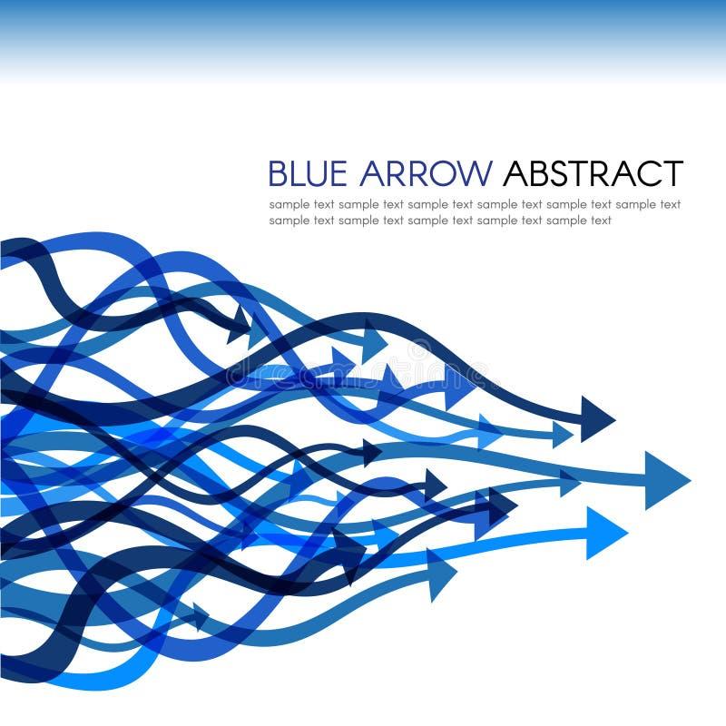 Blauwe de kromme scherpe vector abstracte achtergrond van de pijllijn royalty-vrije illustratie