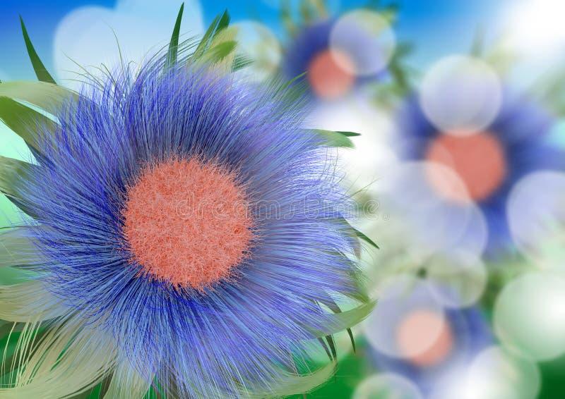 Blauwe de lentebloem vector illustratie