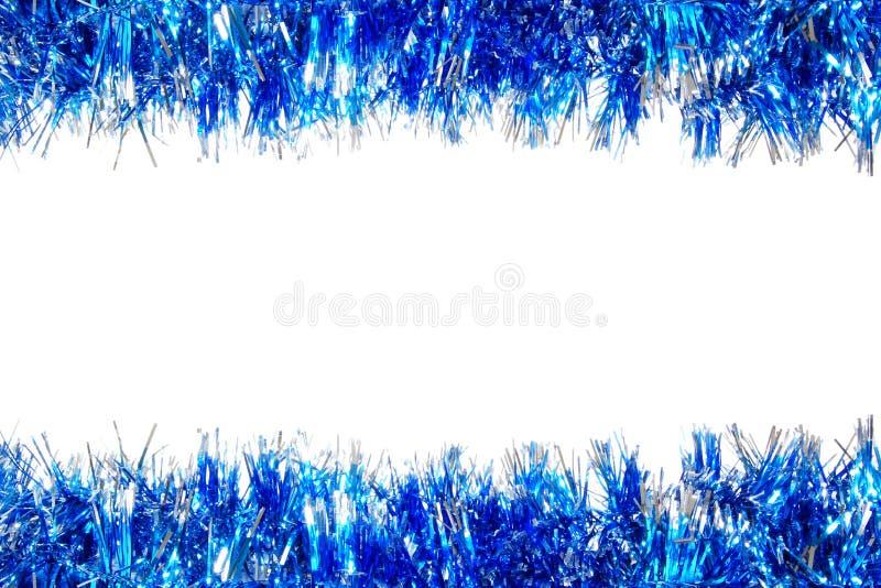 Blauwe de slingergrens van Kerstmis royalty-vrije stock afbeelding