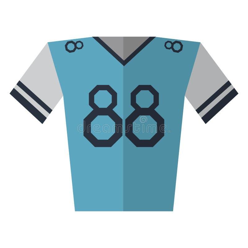 blauwe de speler Amerikaanse voetbal van Jersey stock illustratie