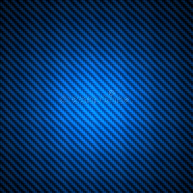 Blauwe de textuurachtergrond van de koolstofvezel royalty-vrije illustratie