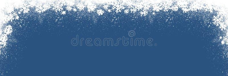 Blauwe de waterverf donkere achtergrond van de de wintersneeuwval Hand getrokken textuur vector illustratie