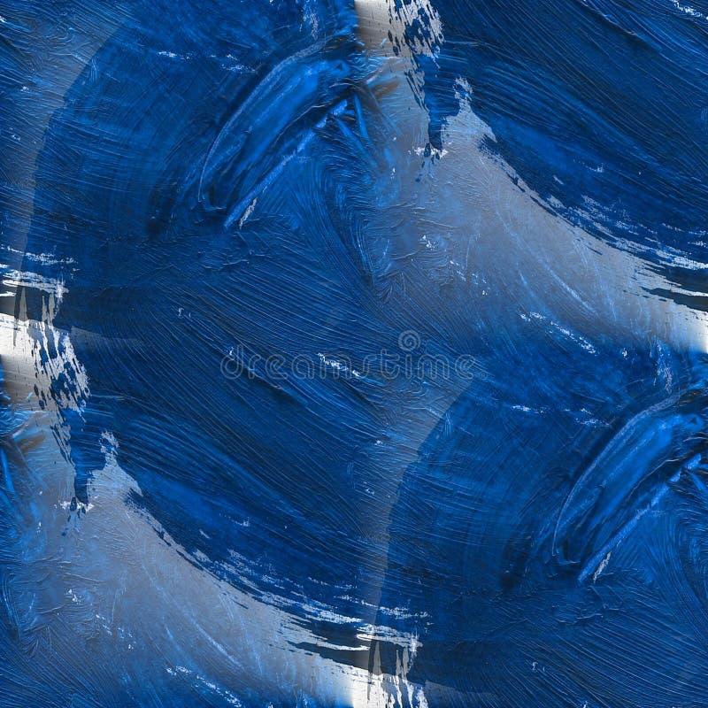 Blauwe de waterverf naadloze achtergrond van het beeld royalty-vrije stock afbeelding