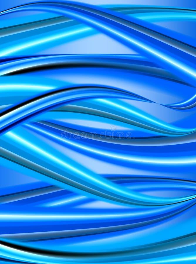 Blauwe decoratieve achtergrond royalty-vrije illustratie