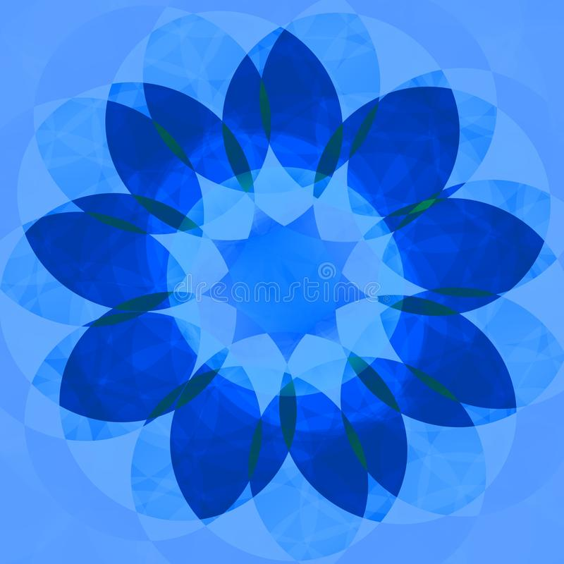 Blauwe decoratieve bloem royalty-vrije illustratie