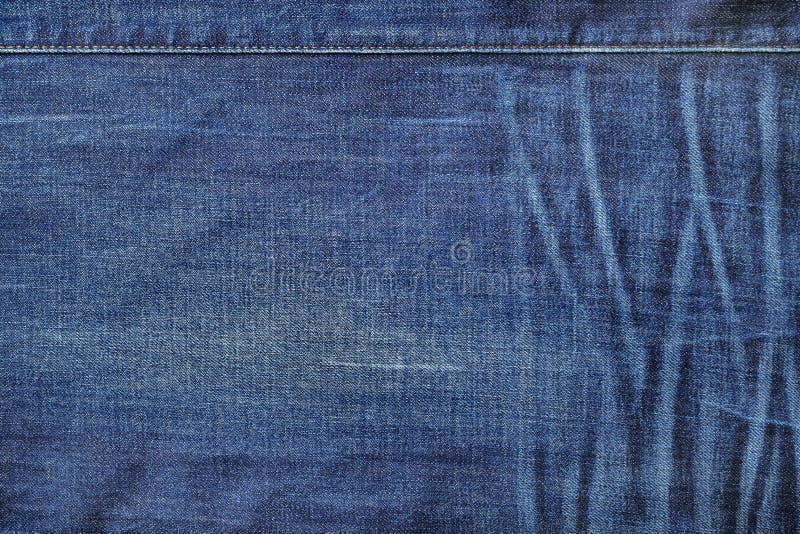 Blauwe denimtextuur royalty-vrije stock foto