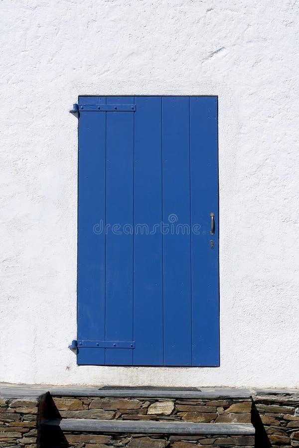 Blauwe deur stock afbeeldingen