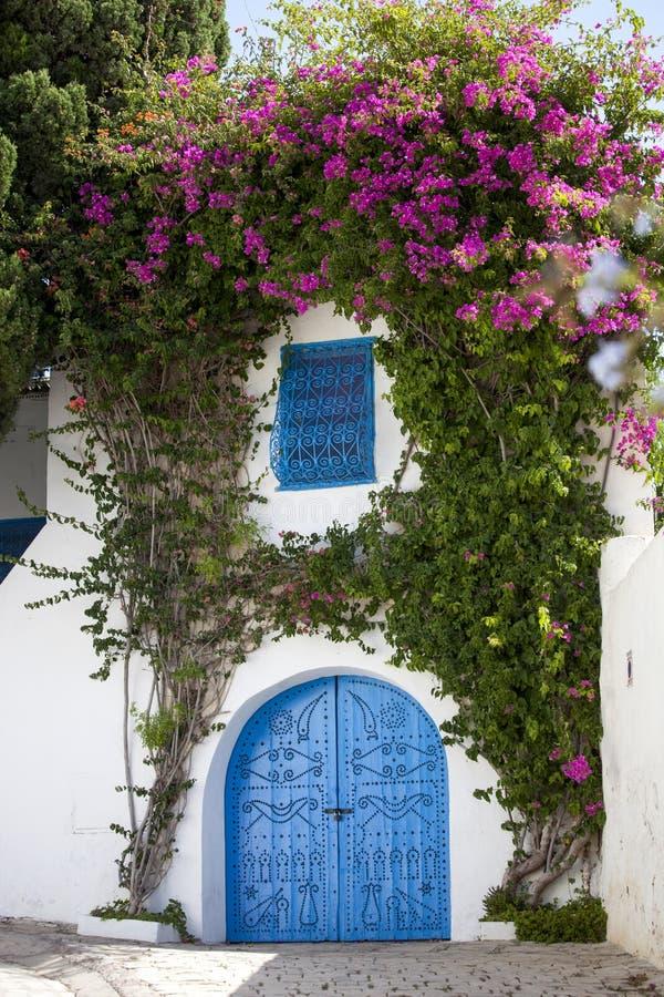 Download Blauwe Deuren En Witte Muur Van Sidi Bovengenoemde Bou, Tunesië Stock Foto - Afbeelding bestaande uit decoratie, art: 29514216