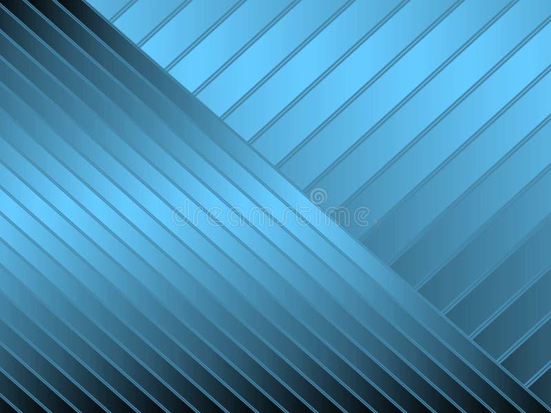 Blauwe diagonale strepen stock illustratie