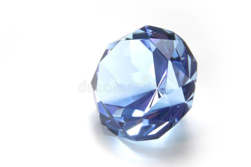 Blauwe diamant royalty-vrije stock foto