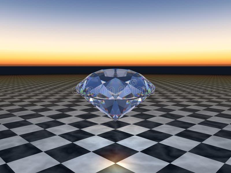 Blauwe Diamant stock illustratie
