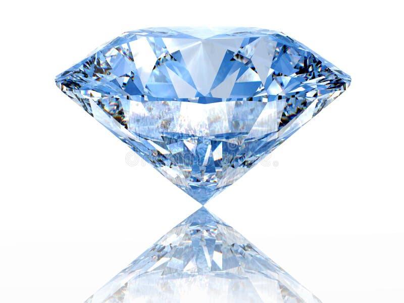 Blauwe diamant vector illustratie