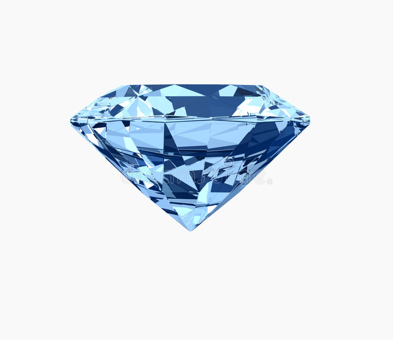 Blauwe diamant stock afbeeldingen