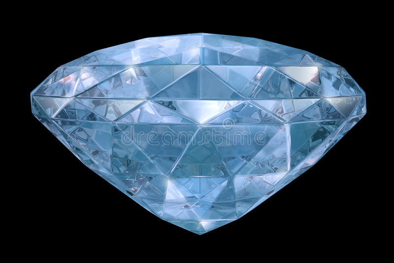 Blauwe diamant met zachte randen royalty-vrije illustratie