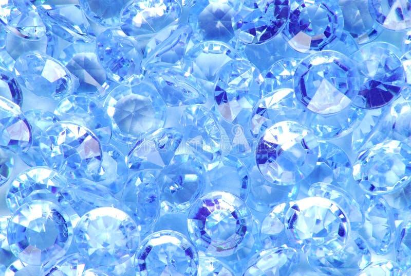 Blauwe diamantachtergrond royalty-vrije stock afbeelding