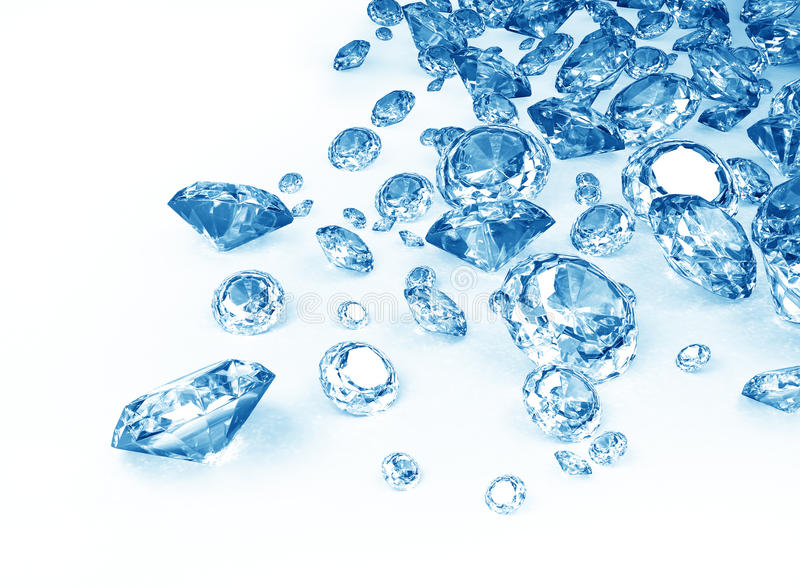 Blauwe diamanten stock illustratie