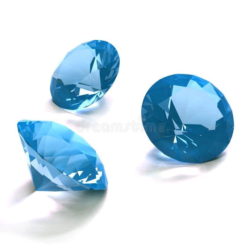 Blauwe diamanten stock illustratie