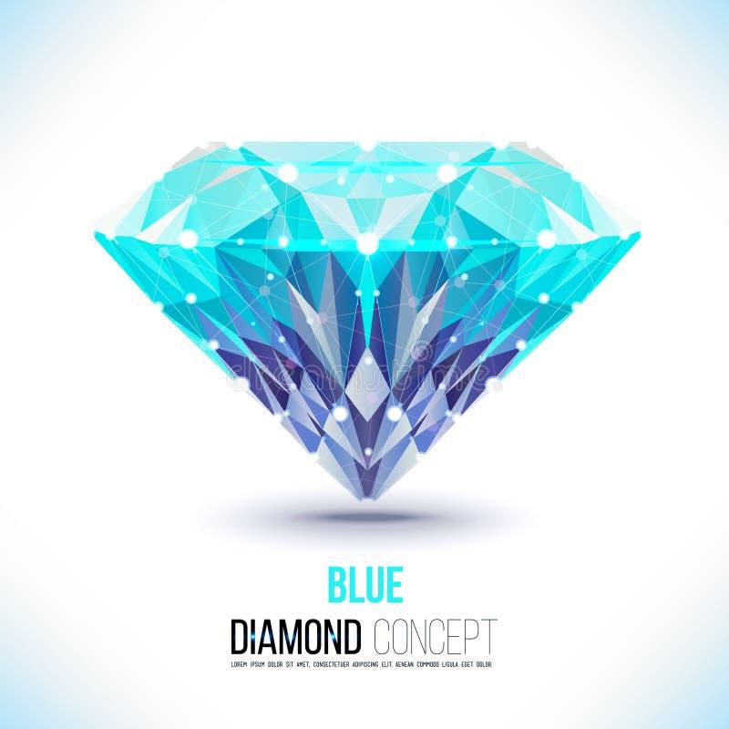 Blauwe diamondVectorvorm vector illustratie