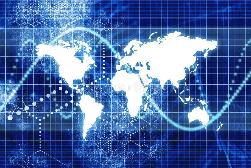Blauwe Digitale Van de Bedrijfs wereld Samenvatting stock illustratie