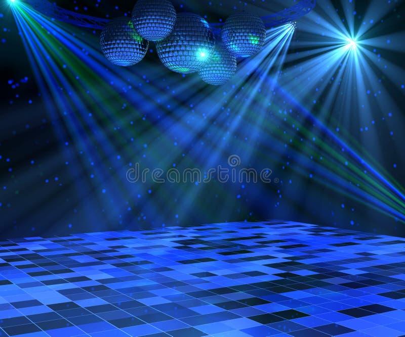 Blauwe Disco Dance Floor stock illustratie
