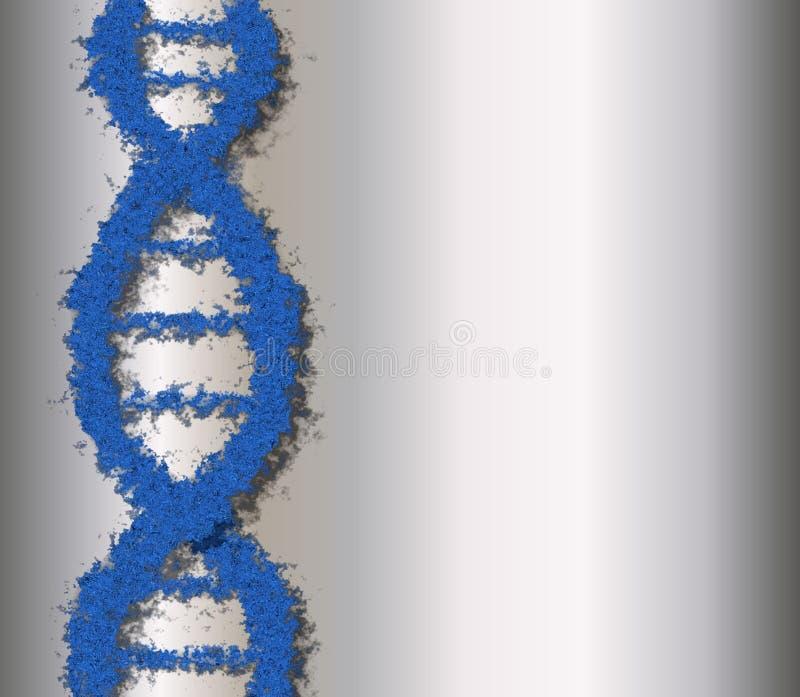 Blauwe DNA Royalty-vrije Stock Afbeeldingen
