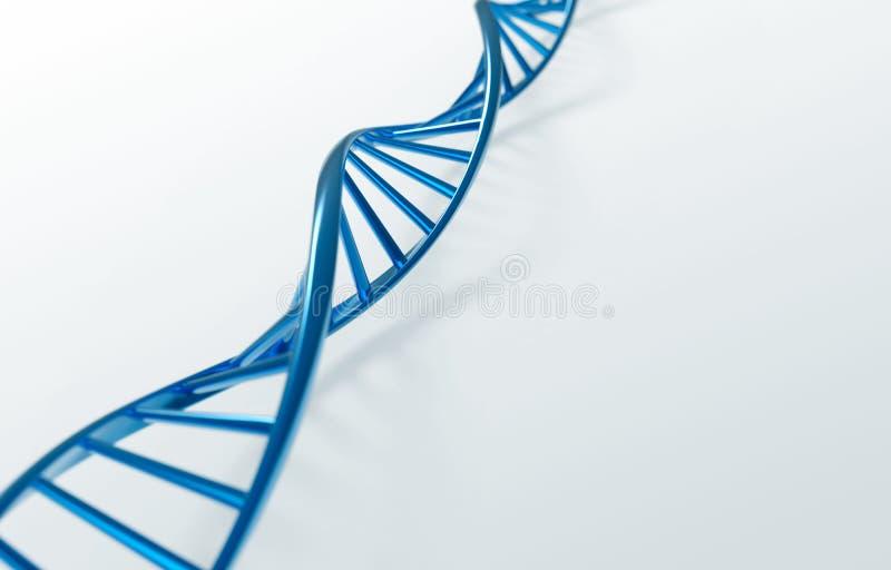Blauwe DNAschroef stock illustratie