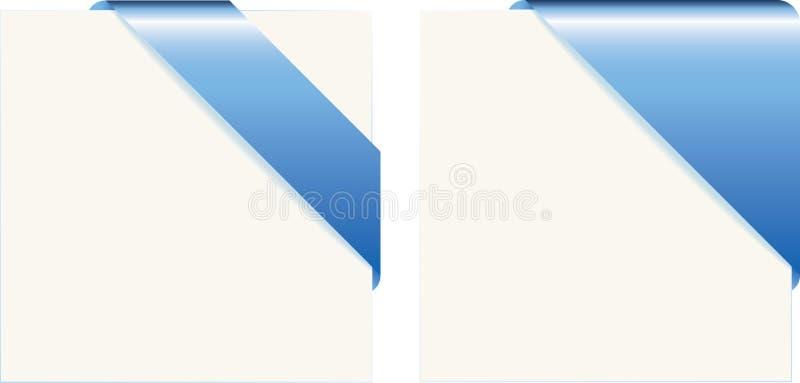 Blauwe document hoeken stock illustratie