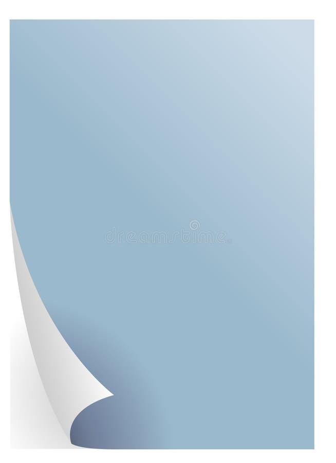 Blauwe document vector vector illustratie