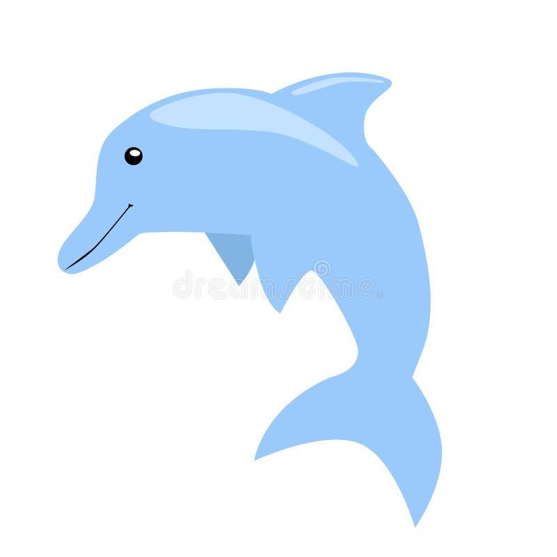 Blauwe dolfijn vectorillustratie stock illustratie