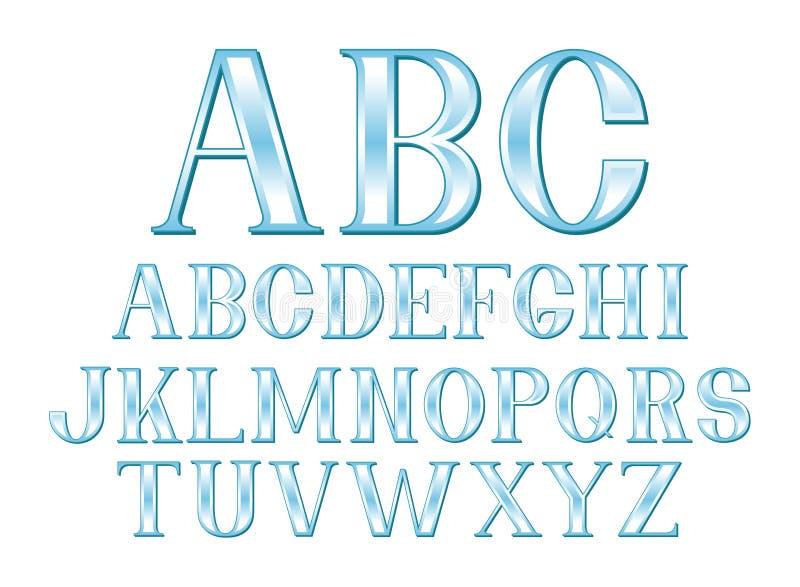 Blauwe Doopvont stock illustratie