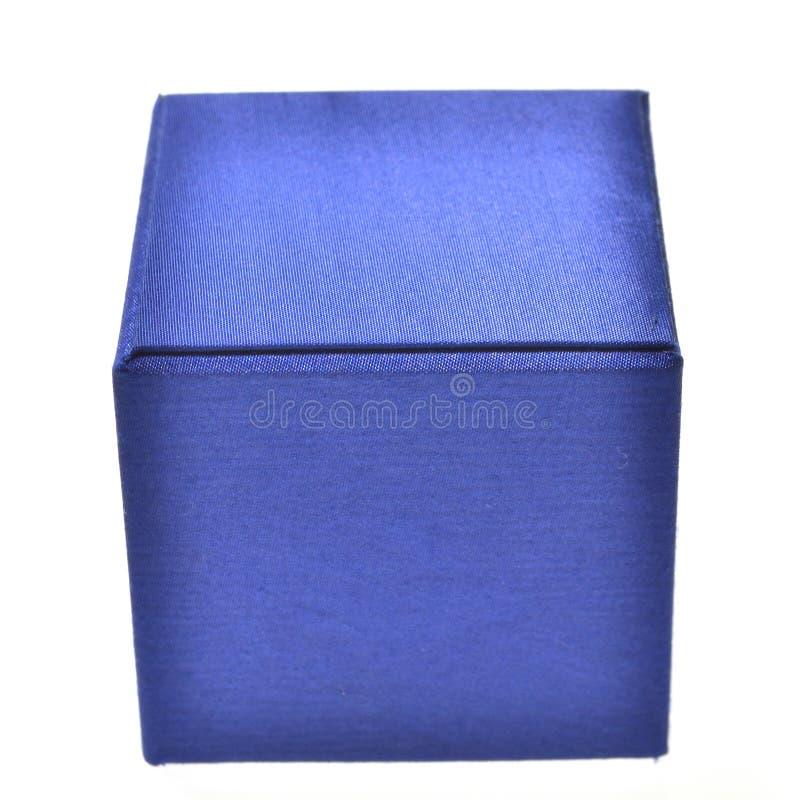 Blauwe doos stock foto