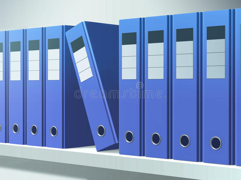 Blauwe dossiers stock afbeelding