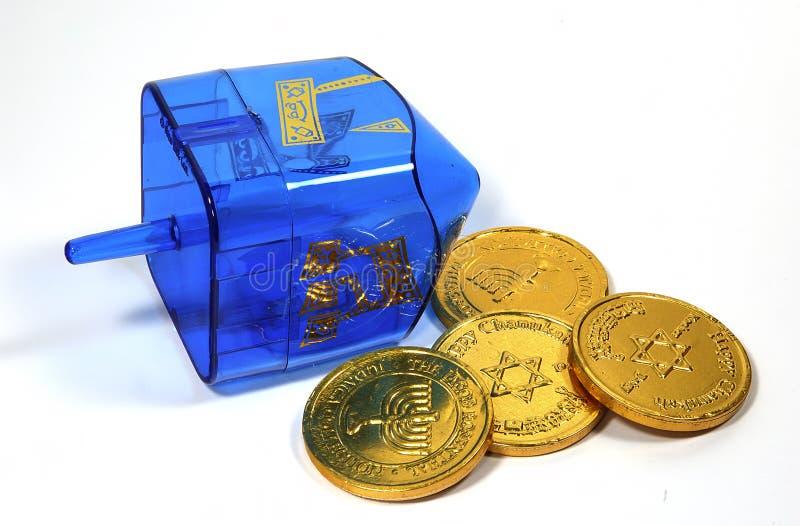 Blauwe Dreidel royalty-vrije stock foto's