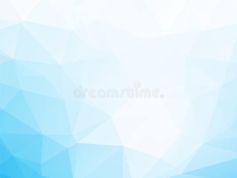 Blauwe driehoekenachtergrond royalty-vrije illustratie