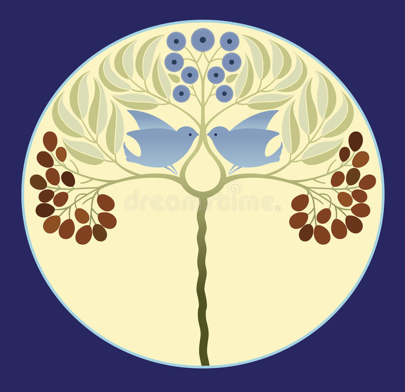 Blauwe Dwergpapegaaien stock illustratie